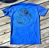 """ZFD"" ZERO FUCKS DUCK OPERATOR T-SHIRT - DEEP SEA BLUE/BLACK"