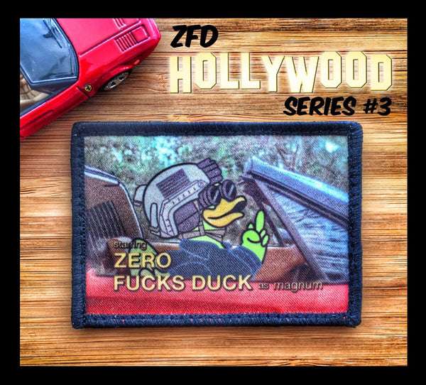 "DUMP BOX ZERO FUCKS DUCK ""ZFD"" LIMITED EDITION MORALE PATCH - HOLLYWOOD SERIES"
