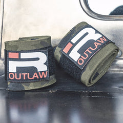 Outlaw Wrist Wraps (Green Camo)