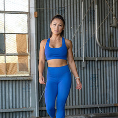 Icon Cross Sports Bra (Electric Blue)