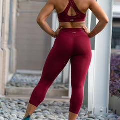 Icon High Waisted Capri (Sangria)
