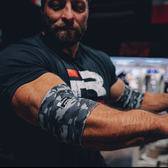 Iron Rebel® Compression Elbow Sleeves (Limited Edition Snow Camo)
