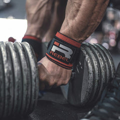 Rebel Wrist Wraps (Black/Red)