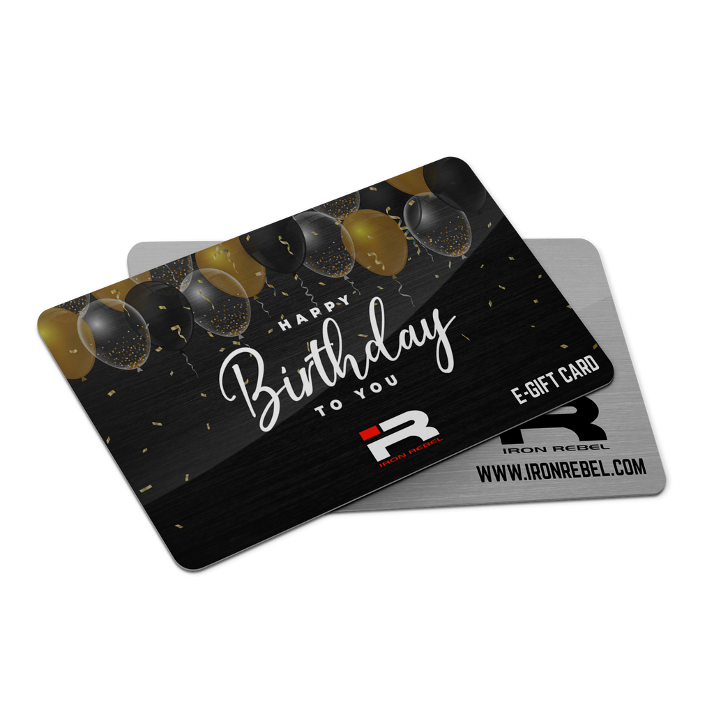"Iron Rebel® ""Happy Birthday"" Gift Card"