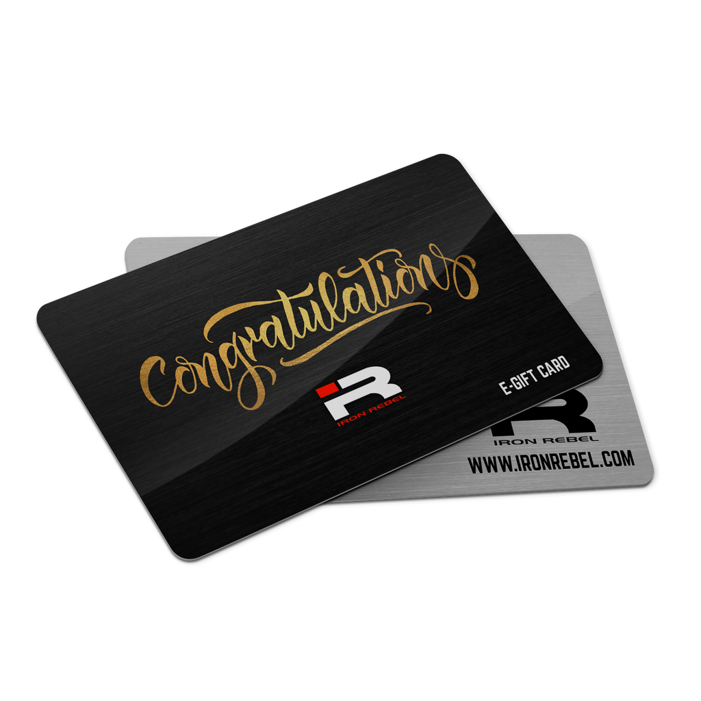 "Iron Rebel® ""Congratulations"" Gift Card"