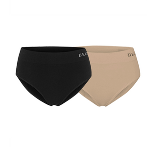 Bamboo Knickers I Two Pack I Women's Comfortable Sustainable Underwear I Bella Bodies I Black and Taupe