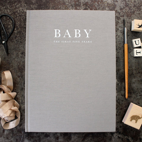 WRITE TO ME | MILESTONE BOOK | BABY TO 5YRS | GREY