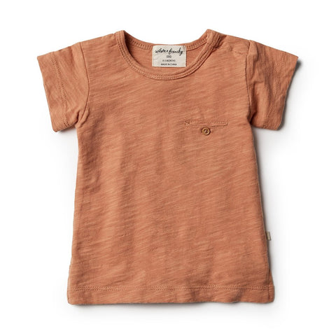 WILSON & FRENCHY | TEE WITH POCKET | TOASTED NUT