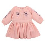 FOX & FINCH | FLEUR EMBROIDERED DRESS | DUSTY PINK