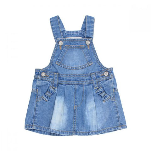 FOX & FINCH | PLAYGROUND OVERALL DRESS | LIGHT DENIM