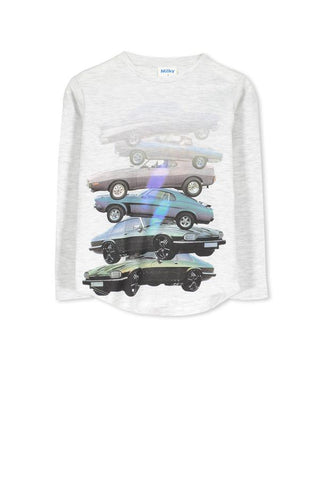 MILKY | MUSCLE CAR TEE | GREY