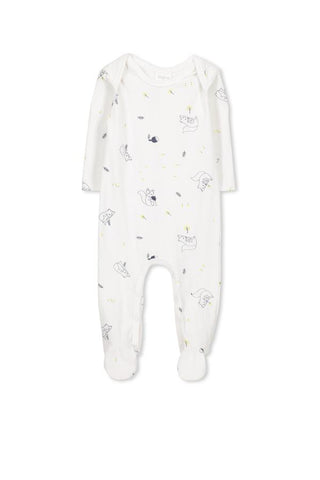 MILKY | SQUIRRELS ROMPER | WHITE