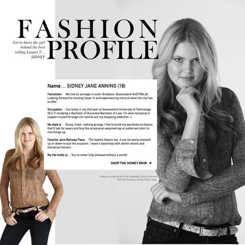 Fashion Profile Sidney - the inspiration behind the Sidney