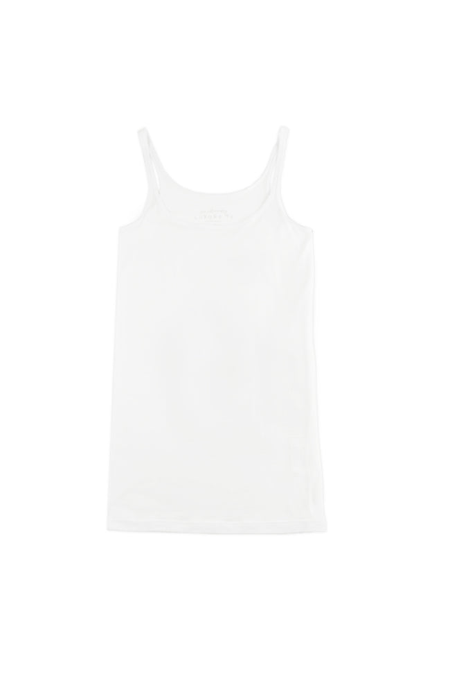 ANNA Luxury Singlet in White