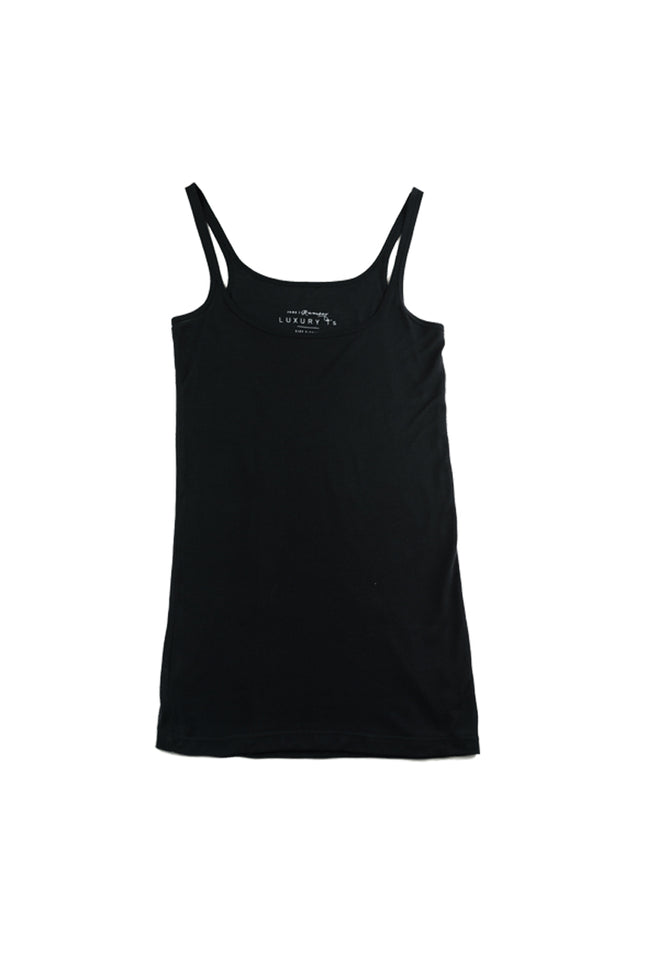 Anna Luxury Singlet in Black