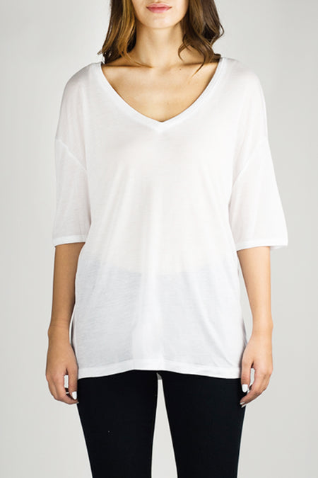 ANDIE Long Sleeve Luxury T White