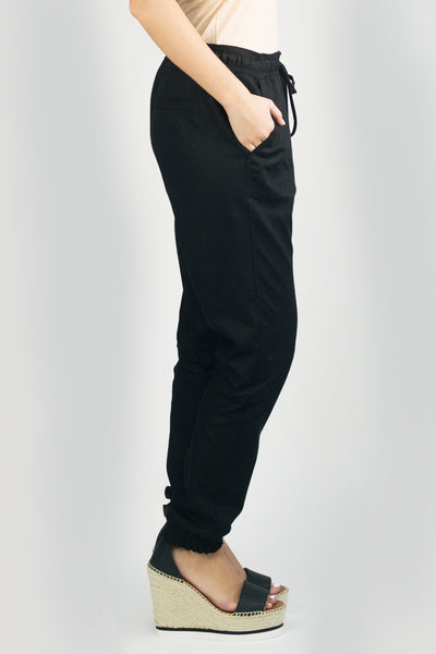 LARA Linen Pant In Black