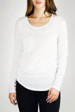 REBECCA Long Sleeve Luxury T in White