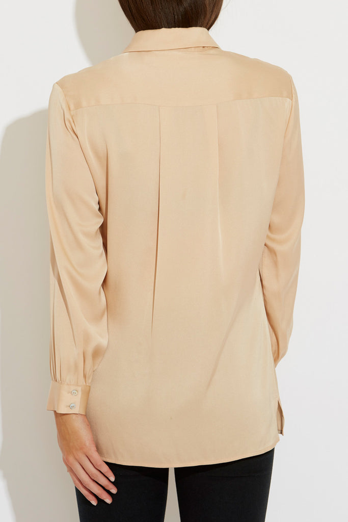 Sarah Silk Shirt in Nude