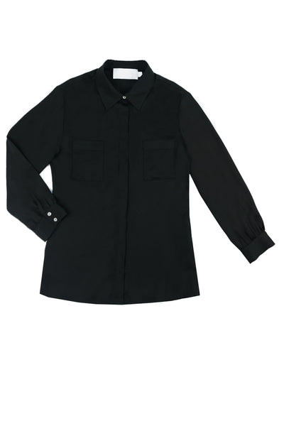 SARAH Silk Shirt in Black