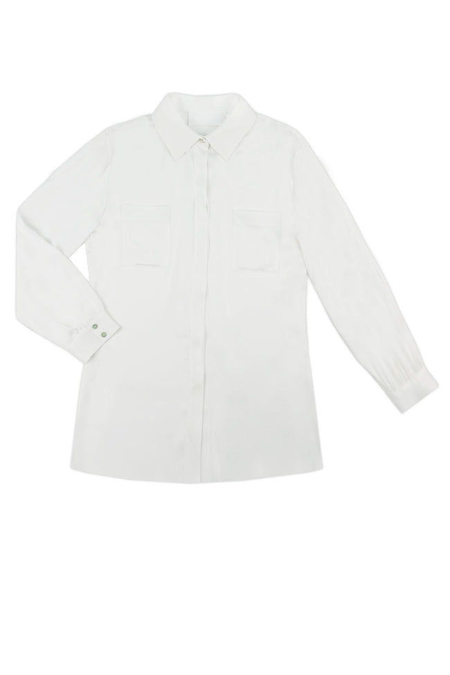SARAH Silk Shirt in White