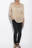 Sidney Long Sleeve Luxury T in Nude