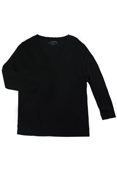 SIDNEY Long Sleeve Luxury T in Black