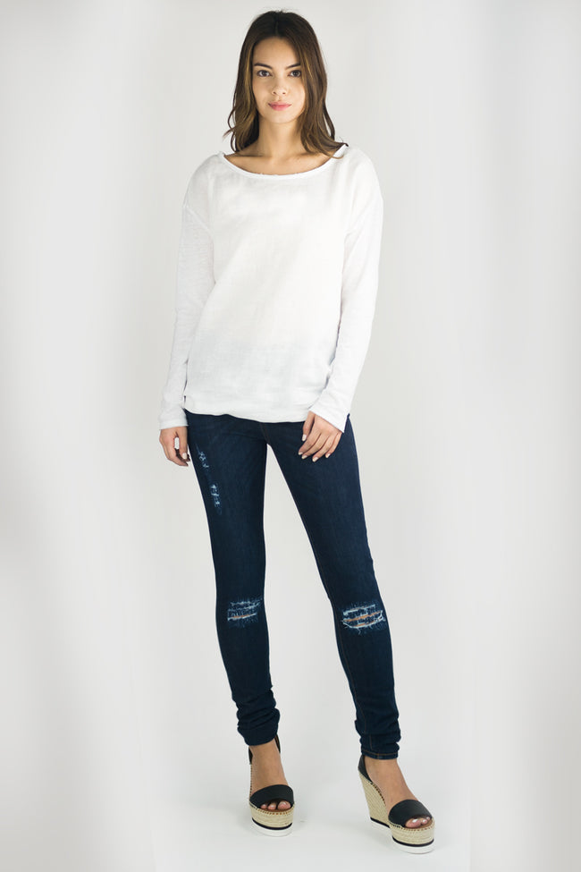 COURTNEY Skinny Jean in Distressed Indigo