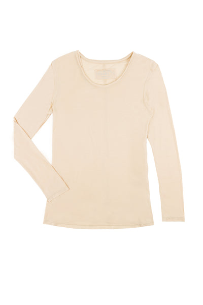 ANDIE Long Sleeve Luxury T Nude