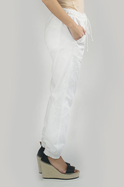 LARA Linen Pant in White