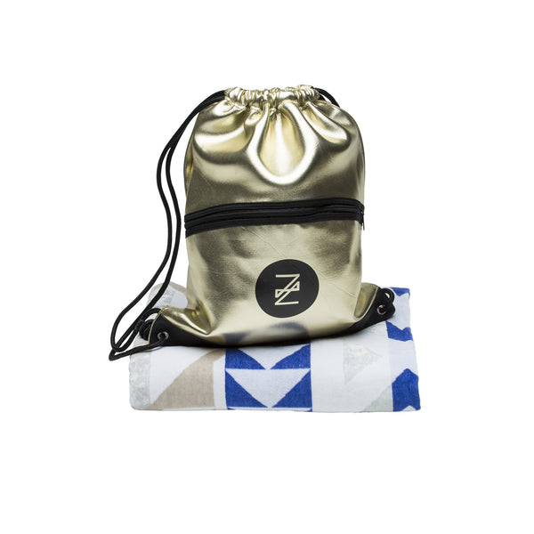 Neptune Beach Towel and Halcyon Backpack Set