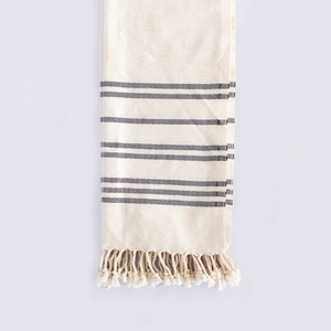 Black and White Stripe towel