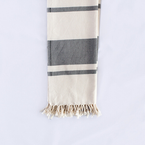 B&W Striped Throw