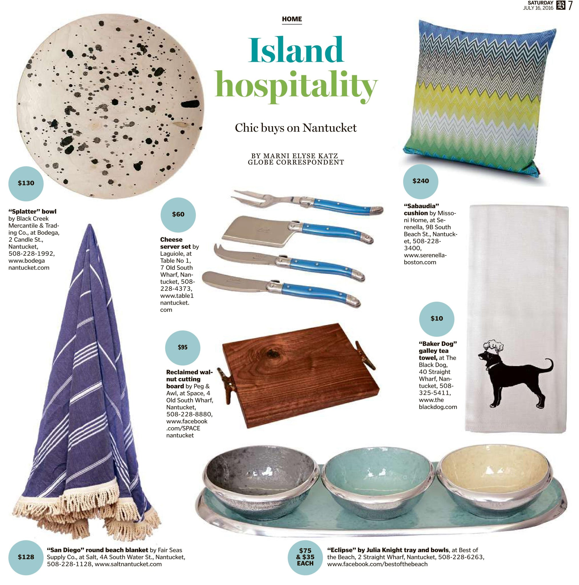 Round Towel in The Boston Globe