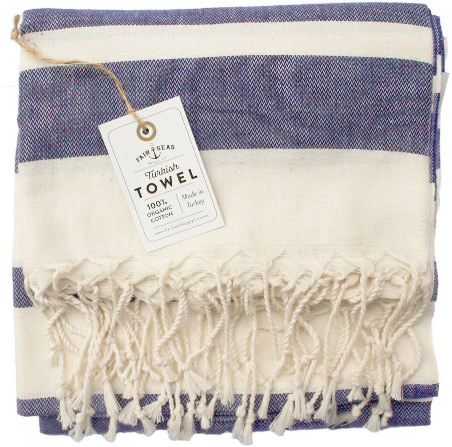 The Charleston - Indigo Blue Turkish Towel