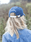 Navy Blue Anchor Hat - Modeled - Woman - Back