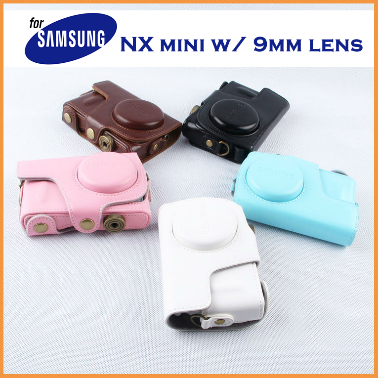 Leather Case Holster for Samsung NX Mini with 9mm Lens