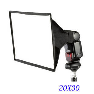 20 X 30cm General Foldable Soft Box Flash Diffuser for Canon Nikon Sony Minolta BHU2