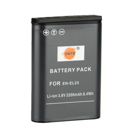 DSTE EN-EL23 2,200mAh Battery and Charger For Nikon S810C P600 P900S
