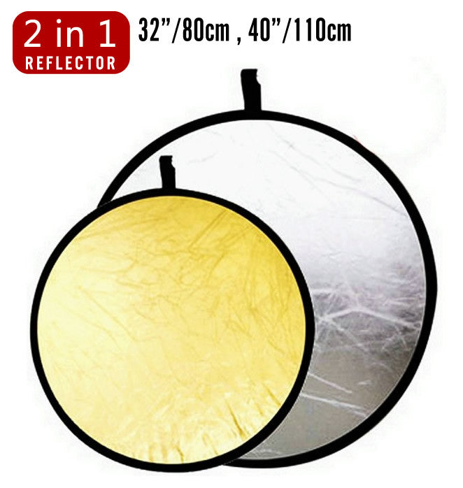 Studio Lighting 2-in-1 diffuser Light Multi Collapsible Disc Reflector