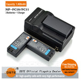 DSTE NP-FC11 NPFC10 1400mAh Battery and Charger For Sony F77 P5 P3 P9