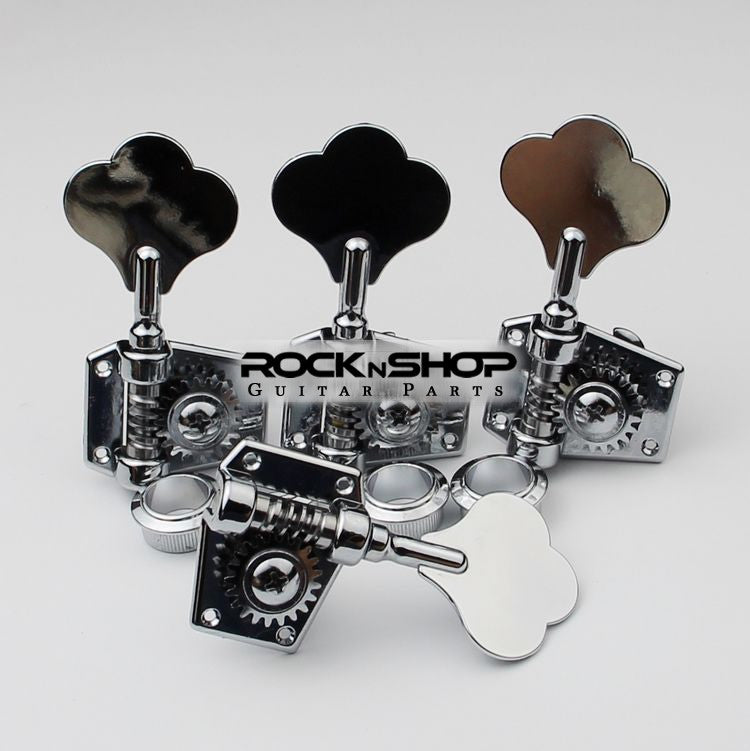 Bass Guitar Tuning Pegs (Silver)