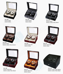 TAIYU Double Head 4 Slots Watch Winder Jewelry Display Box with Rotation Switch