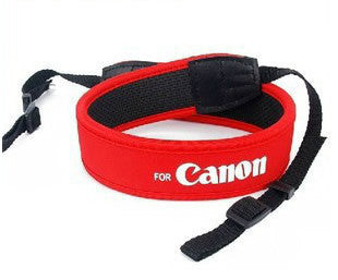 Rubber Camera Strap Red For Canon 50D 40D 30D 5D 450D 1000D