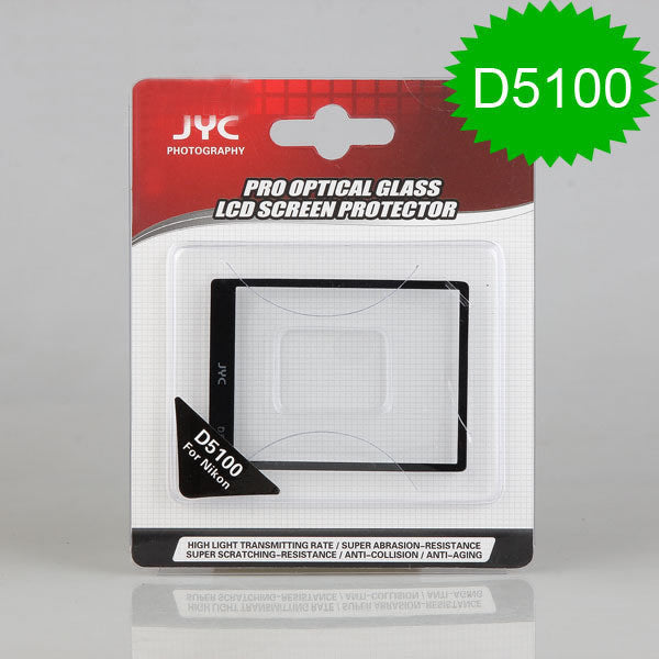 JYC Camera Glass LCD Screen Protector Cover Film for Nikon D5100