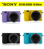 Silicone Rubber Case for Sony Alpha A5000 A5100 A5500 16-50mm