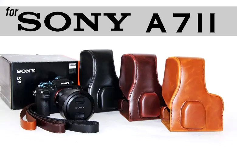 Leather Case Holster for Sony A7II A7RII A7SII A72 A7S2 A7M2 A7RM2 Camera 24-70mm Kit Lens