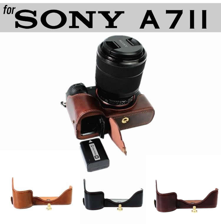 Leather Half Case for Sony A7II A7RII ILCE-7M2 ILCE-7RM2 (version 2)