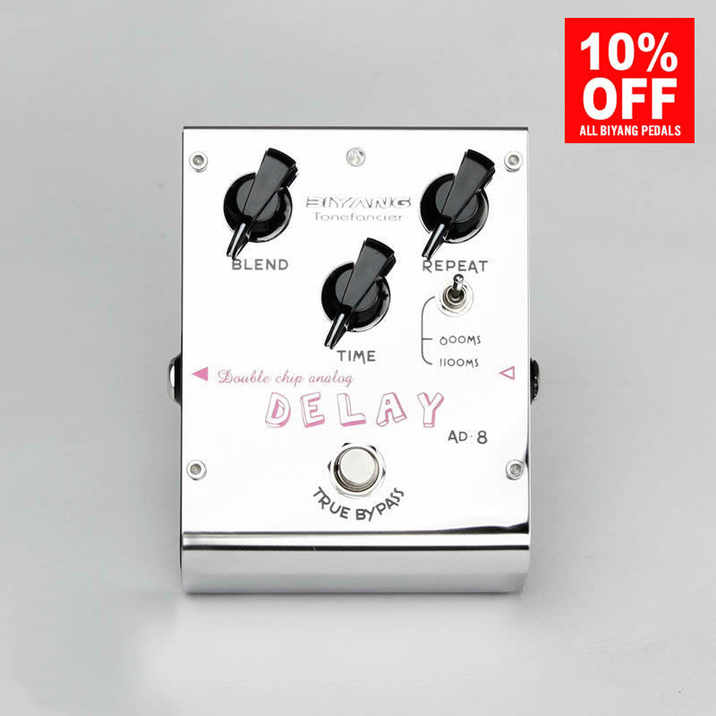 Biyang AD-8 Double Chip Analog Delay Guitar Bass Effect Pedal (ToneFancier Series)