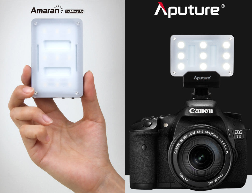Aputure AL-M9 Portable Pocket LED TLCI/CRI 95+ Rechargeable Dimming Photography Light
